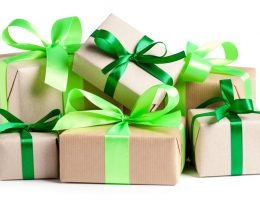 Eco gift boxes on white
