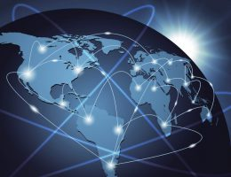 Global network connection backgroun