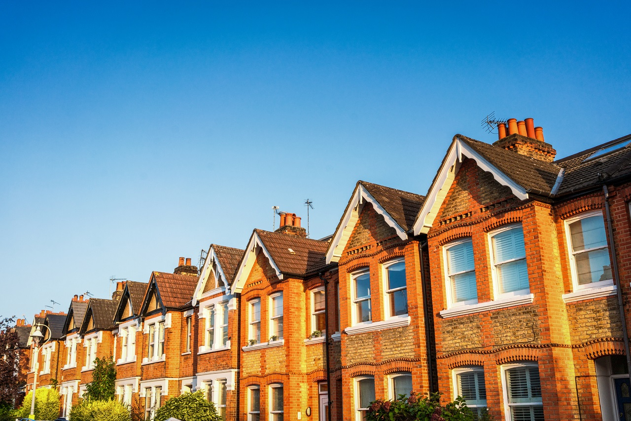 Terraced Victorian homes in London